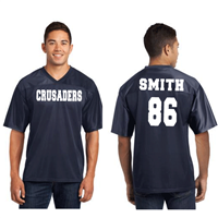 Men's Navy Fan Jersey White Text