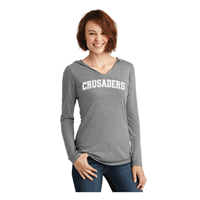Ladies Light Weight GREY V-neck Hoodie