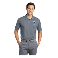 Men's Grey Nike Dri-Fit Polo