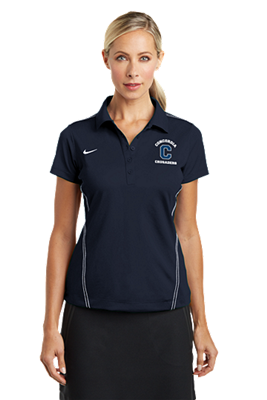 Ladies Navy Nike Dri-Fit Polo
