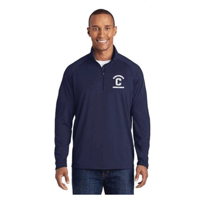 Mens NAVY Sport-Tek® Sport-Wick Stretch 1/2 Zip