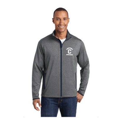 Men's Sport Tek FullZip Charcoal Grey/Navy