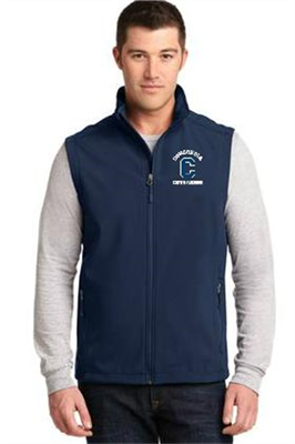 Men's Navy Soft Shell Vest