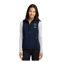 Ladies Navy Soft Shell Vest