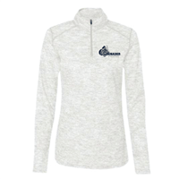 Ladies Badger 1/4Zip Pullover Silver