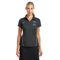 Ladies Grey Nike Dri-Fit Polo