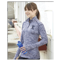 Ladies Badger 1/4 Zip Pullover Navy