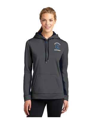 Ladies Dry-Fit Style Dark Grey/Navy Hoodie