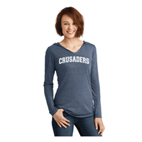 Ladies Light Weight NAVY V-neck Hoodie